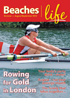 Beaches|Life Aug/Sept issue cover - rowing towards to London Olympic