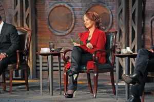 Arlene Dickinson, Dragons Den Set - Photo courtesy of CBC