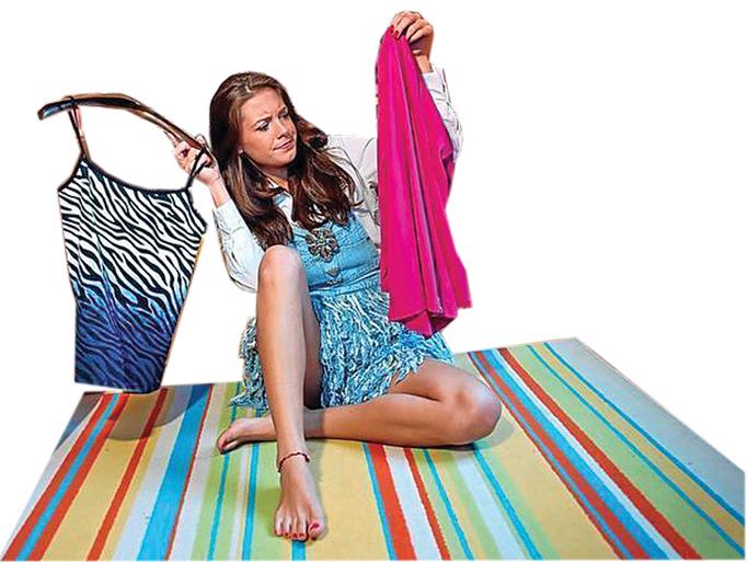 Woman looking at clothing
