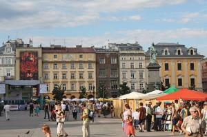 Easter market in Krakow, Poland