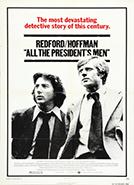 All the President's Men (1976) Dir. Alan J. Pakula;  Dustin Hoffman, Robert Redford, Jack Warden (book by Carl Bernstein & Bob Woodward)