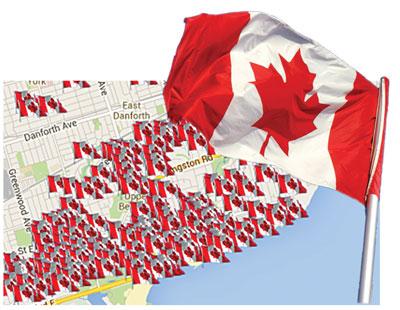 CanadaFlagMap