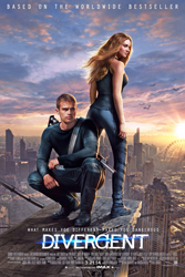 Divergent (2014) Dir. Neil Burger;  Shailene Woodley, Theo James, Kate Winslet