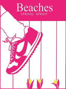 beaches spring sprint 2016 poster