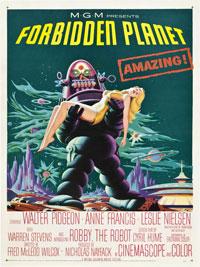 Forbidden Planet (1956) Dir. Fred M. Wilcox; Walter Pidgeon, Anne Francis, Leslie Nielsen