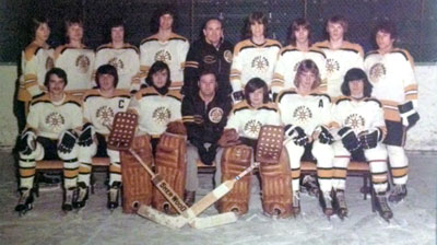 Before they were fellow fire fighters, Dave Strauss, Colin MacDonald and Doug Browne were teammates on the Dorset Park Bruins hockey team