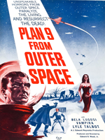 Plan 9 from Outer Space (1959) Dir. Ed Wood Jr.; Maila Nurmi {Vampira}, Bela Lugosi, Criswell
