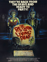 The Return of the Living Dead (1985) Dir. Dan O'Bannon; Linnea Quigley {Trash}, Clu Gulager, James Karen
