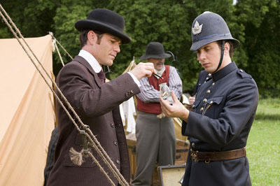 Jonny and Yannick on set for Murdoch Mysteries