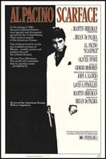 SCARFACE (1983) Dir. Brian De Palma; Al Pacino, Michelle Pfeiffer, Steven Bauer