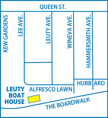 Leuty Boathouse MAP