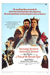 Anne of the Thousand Days (1969) Dir. Charles Jarrott; Richard Burton, Geneviève Bujold, Irene Papas