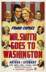 Mr. Smith Goes to Washington (1939) Dir. Frank Capra; James Stewart, Jean Arthur, Claude Rains