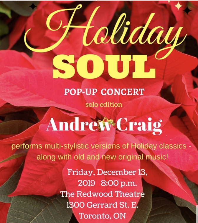 Andrew Craig - Holiday SOUL Pop-up Show