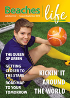 Beaches|Life 2013 Late Summer 2013 cover - Soccer Star Michael