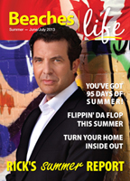 Beaches|Life 2013 Early Summer 2013 cover - Rick Mercer cover story, CBC Rick Mercer Report