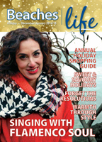 Amanda Martinez - Beaches Living Holiday issue cover story