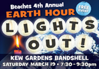 Beaches Earth Hour LIGHTS OUT! 2016