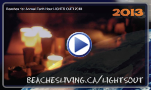 Earth Hour Lights Out in the Beaches